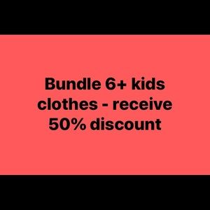 Bundle of 6+ kids clothes/shoes at 50% off